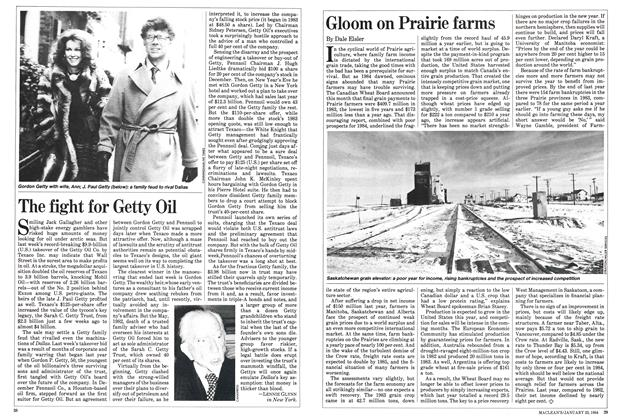 Article Preview: Gloom on Prairie farms, January 1984 | Maclean's