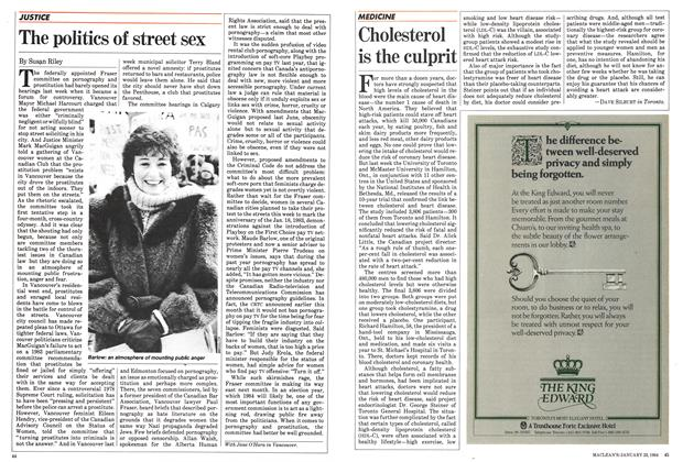 Article Preview: The politics of street sex, January 1984 | Maclean's