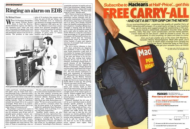 Article Preview: Ringing an alarm on EDB, January 1984 | Maclean's