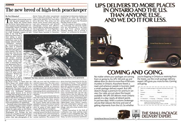 Article Preview: The new breed of high-tech peacekeeper, January 1984 | Maclean's
