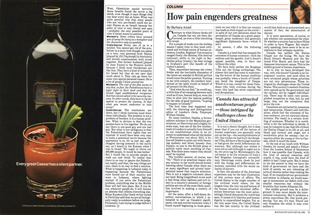 Article Preview: How pain engenders greatness, January 1984 | Maclean's