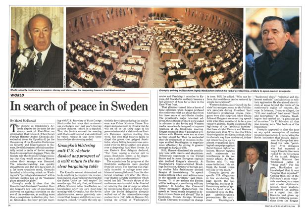 Article Preview: In search of peace in Sweden, January 1984 | Maclean's