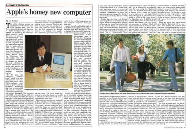Article Preview: Apple's homey new computer, January 1984 | Maclean's
