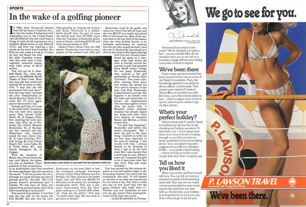 Article Preview: In the wake of a golfing pioneer, January 1984   Maclean's