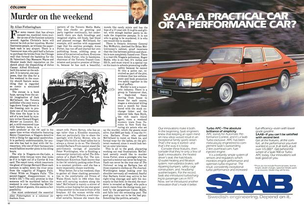Article Preview: Murder on the weekend, January 1984 | Maclean's