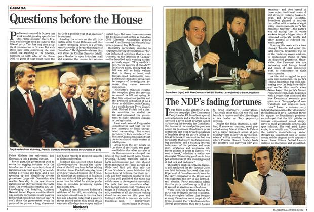 Article Preview: Questions before the House, January 1984 | Maclean's