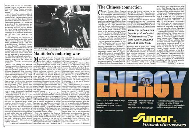 Article Preview: Manitoba's enduring war, January 1984 | Maclean's