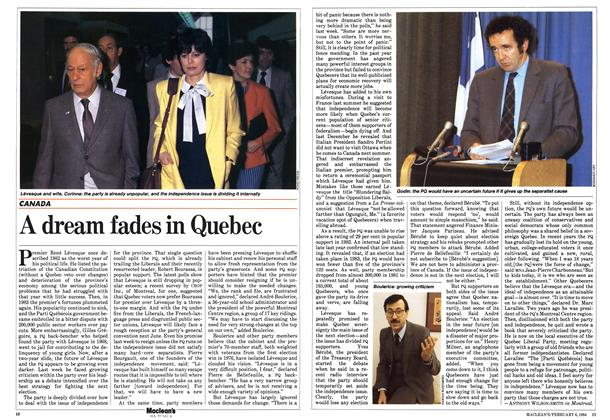 Article Preview: A dream fades in Quebec, February 1984 | Maclean's