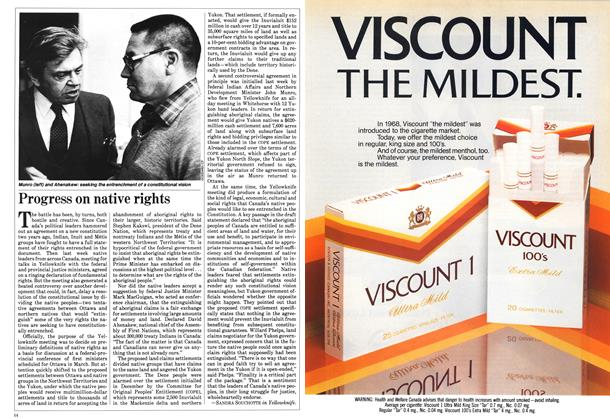 Article Preview: Progress on native rights, February 1984   Maclean's