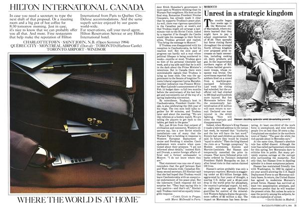Article Preview: Unrest in a strategic kingdom, February 1984 | Maclean's