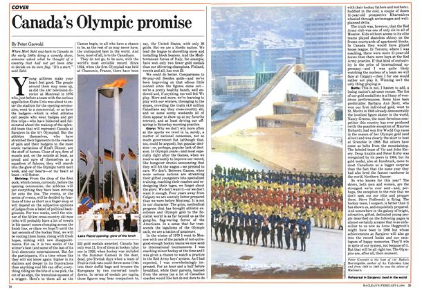 Article Preview: Canada's Olympic promise, February 1984 | Maclean's