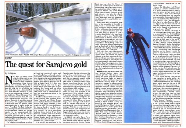 Article Preview: The quest for Sarajevo gold, February 1984 | Maclean's