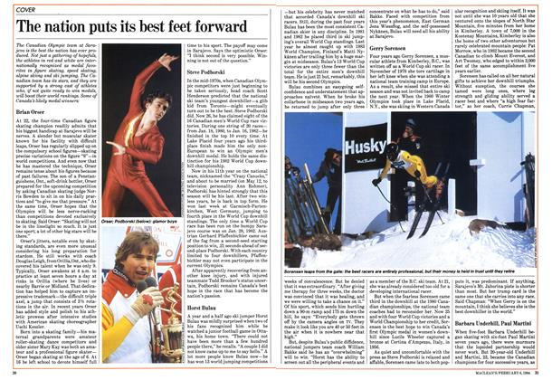 Article Preview: The nation puts its best feet forward, February 1984 | Maclean's