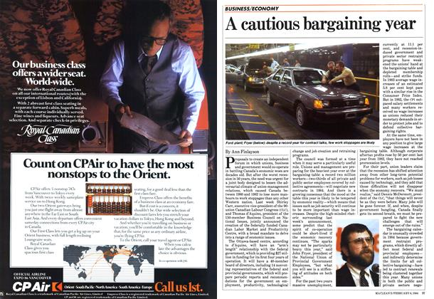Article Preview: A cautious bargaining year, February 1984 | Maclean's