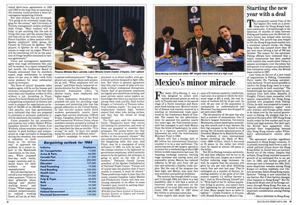 Article Preview: Starting the new year with a deal, February 1984 | Maclean's