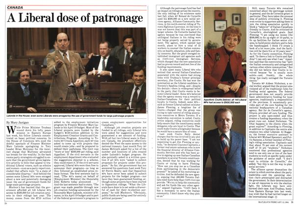 Article Preview: A Liberal dose of patronage, February 1984 | Maclean's