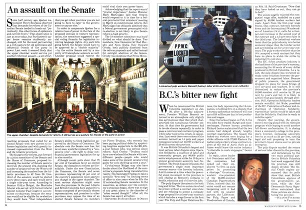 Article Preview: An assault on the Senate, February 1984   Maclean's