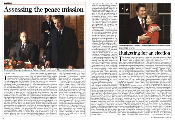 Article Preview: Assessing the peace mission, February 1984 | Maclean's