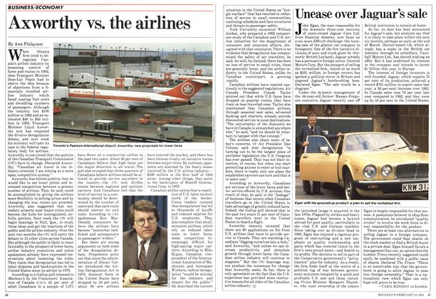 Article Preview: Axworthy vs. the airlines, February 1984 | Maclean's