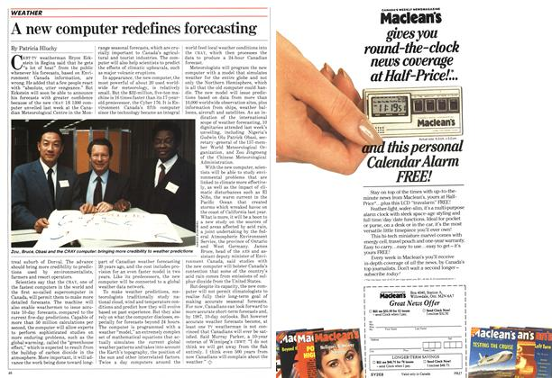 Article Preview: A new computer redefines forecasting, February 1984 | Maclean's