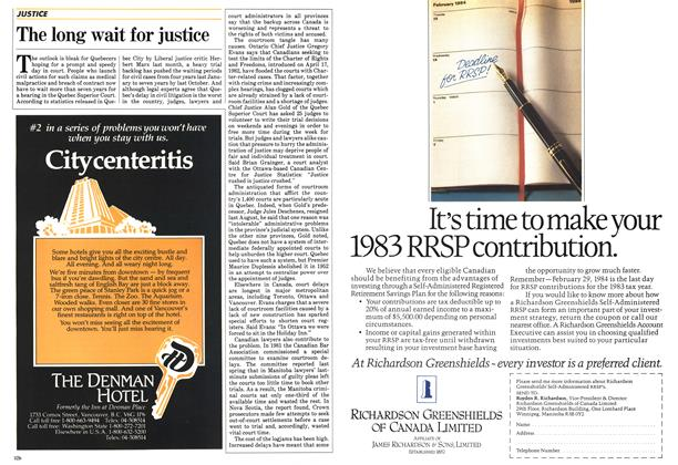 Article Preview: The long wait for justice, February 1984 | Maclean's