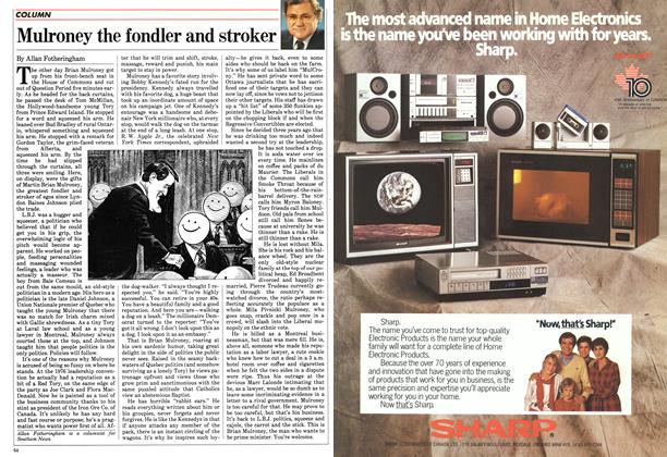Article Preview: Mulroney the fondler and stroker, February 1984 | Maclean's