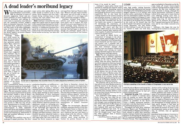 Article Preview: A dead leader's moribund legacy, February 1984 | Maclean's