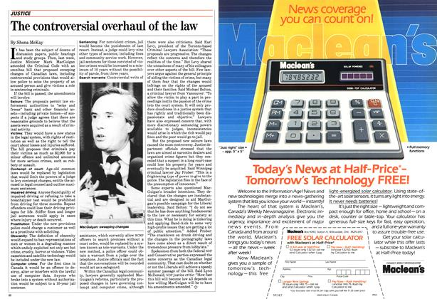 Article Preview: The controversial overhaul of the law, February 1984 | Maclean's