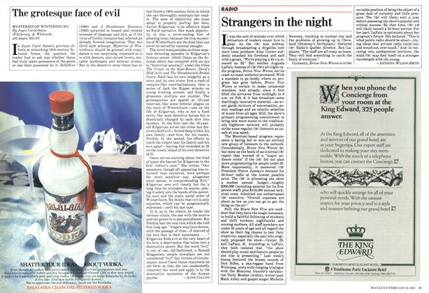 Article Preview: Strangers in the night, February 1984 | Maclean's