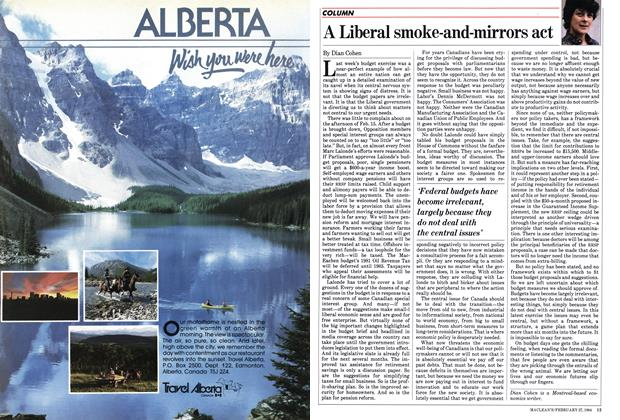 Article Preview: A Liberal smoke-and-mirrors act, February 1984 | Maclean's
