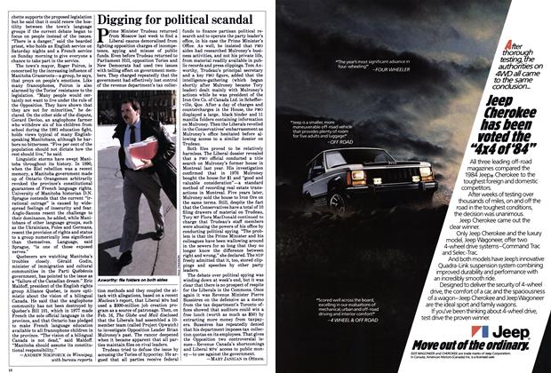 Article Preview: Digging for political scandal, February 1984 | Maclean's
