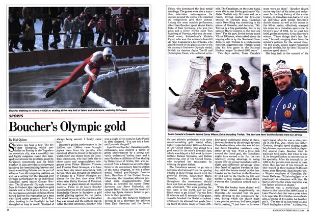 Article Preview: Boucher's Olympic gold, February 1984 | Maclean's
