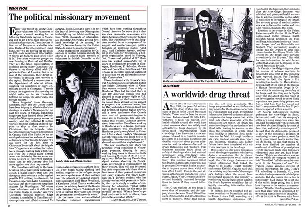 Article Preview: A worldwide drug threat, February 1984 | Maclean's