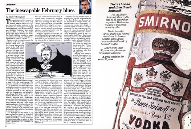 Article Preview: The inescapable February blues, February 1984 | Maclean's