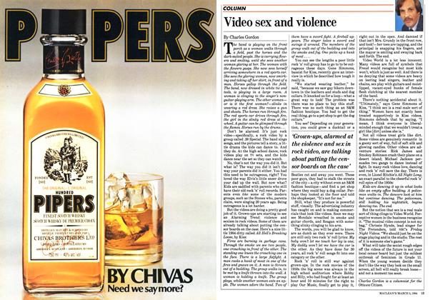 Article Preview: Video sex and violence, March 1984 | Maclean's