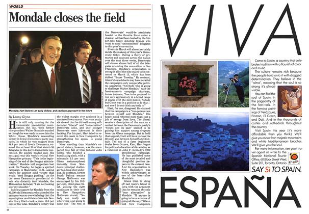 Article Preview: Mondale closes the field, March 1984   Maclean's