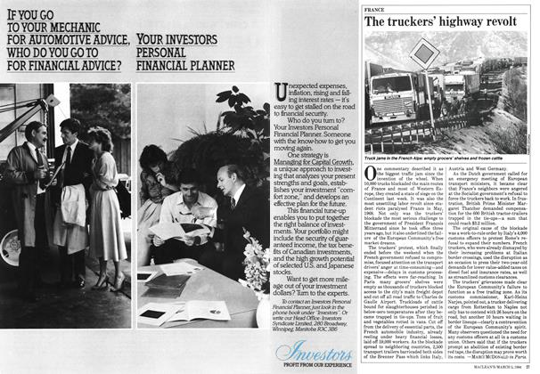 Article Preview: The truckers' highway revolt, March 1984 | Maclean's