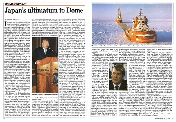 Article Preview: Japan's ultimatum to Dome, March 1984 | Maclean's