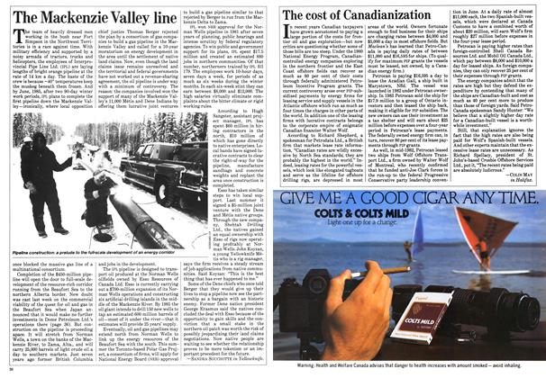 Article Preview: The Mackenzie Valley line, March 1984   Maclean's