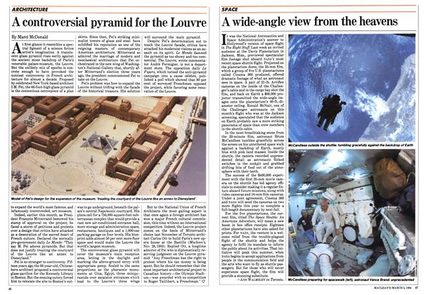 Article Preview: A wide-angle view from the heavens, March 1984 | Maclean's