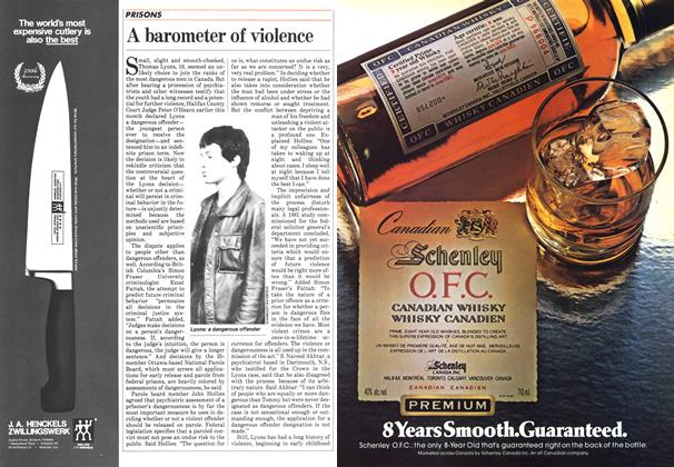 Article Preview: A barometer of violence, March 1984 | Maclean's