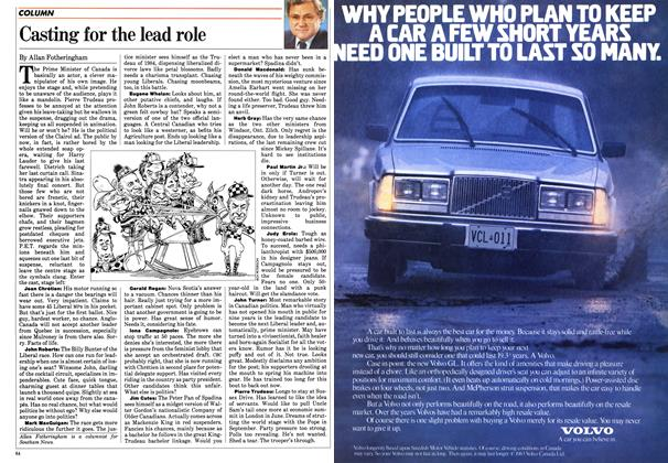 Article Preview: Casting for the lead role, March 1984 | Maclean's