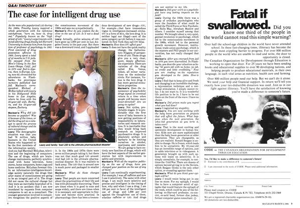 Article Preview: The case for intelligent drug use, March 1984 | Maclean's