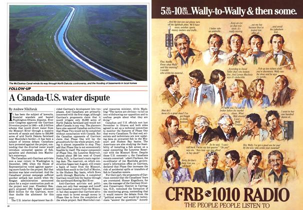 Article Preview: A Canada-U.S. water dispute, March 1984 | Maclean's