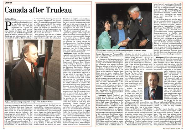 Article Preview: Canada after Trudeau, March 1984 | Maclean's