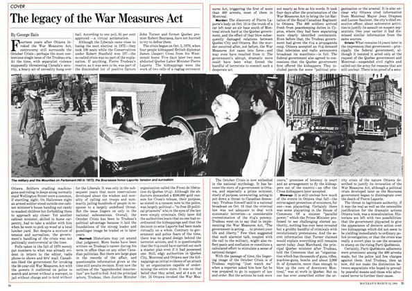 Article Preview: The legacy of the War Measures Act, March 1984 | Maclean's