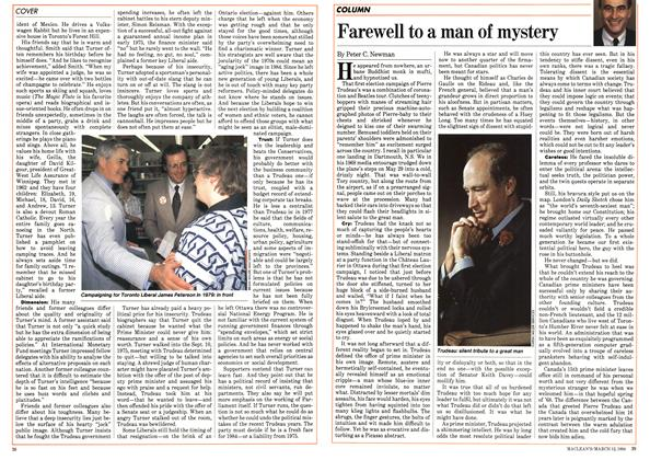 Article Preview: Farewell to a man of mystery, March 1984 | Maclean's