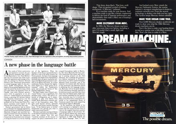 Article Preview: A new phase in the language battle, March 1984 | Maclean's