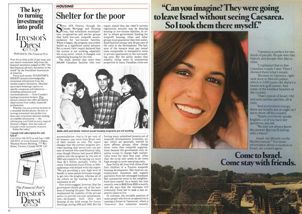 Article Preview: Shelter for the poor, March 1984 | Maclean's