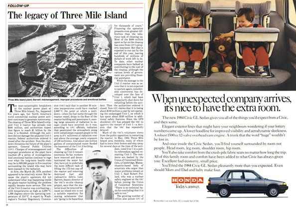 Article Preview: The legacy of Three Mile Island, March 1984 | Maclean's